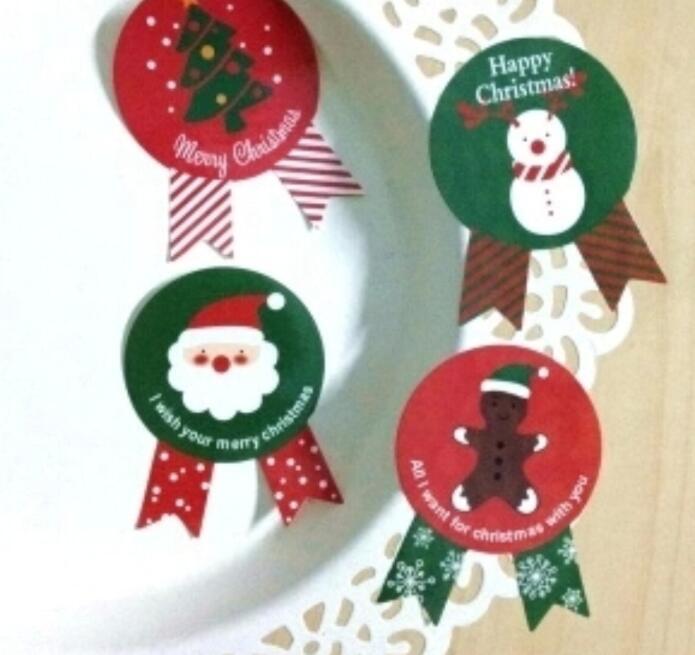 ★可愛いDIYシール クリスマス元素★粘着シール 包装シール★8枚いり