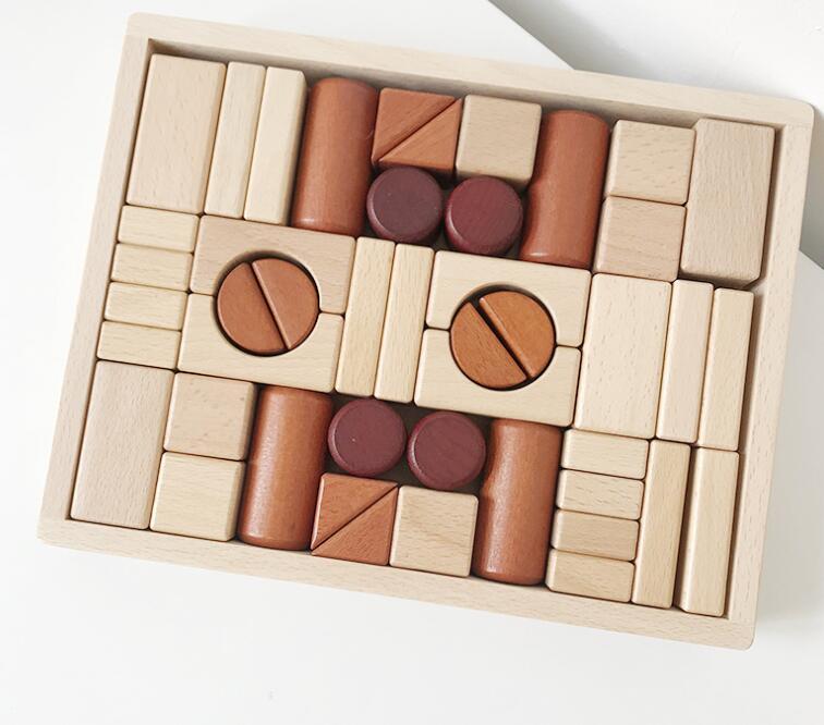 子供用品★知育玩具★おもちゃ・ホビー★遊びもの 46個入り 木製★