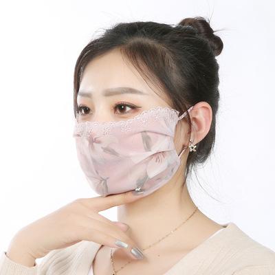 夏新作マスク☆冷感 マスク☆大人用 ☆ 花柄マスク☆ 防塵☆花粉症☆ウイルス対策☆多色