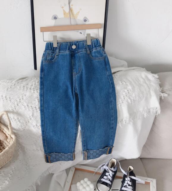 2021秋新作★大人気アパレル★女の子子供服★キッズ服★可愛いズボン★ジーンズ