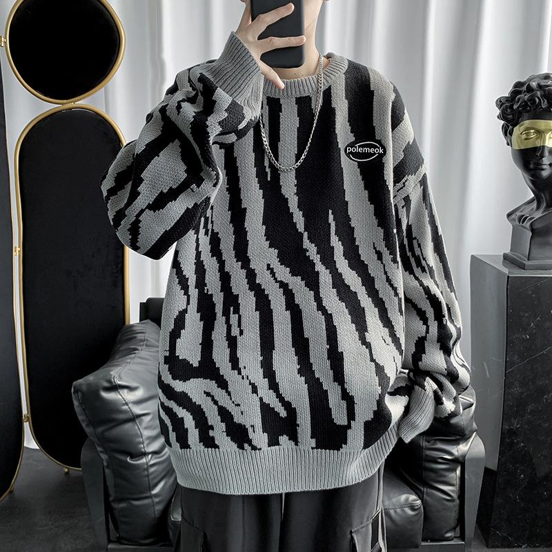 トップス・ニット長袖・セーター・ゆったり・メンズ・ファッション・新品