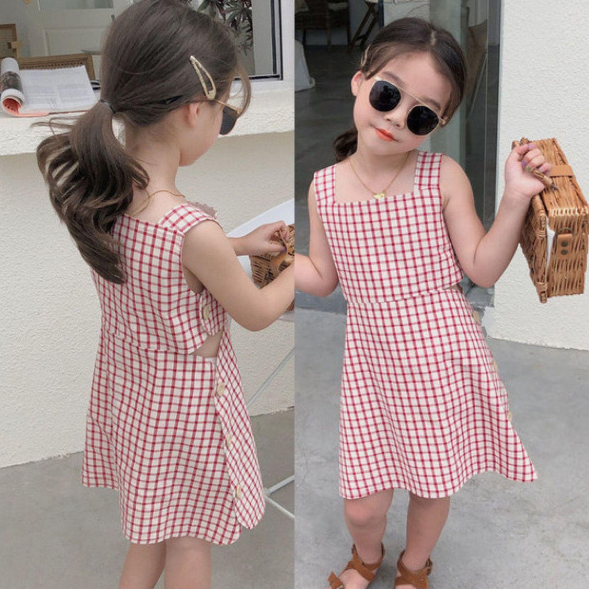 【2021新作】★♪女の子ファッション★♪格子柄★♪子供服★♪可愛いワンピース★♪