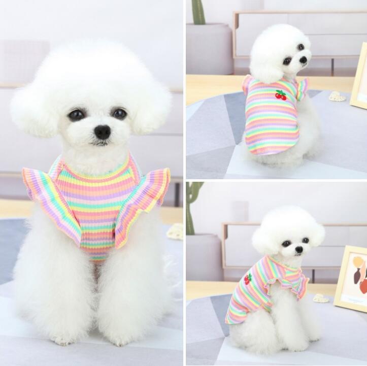2021春夏新品★シャツ★ペット用品★ペット向け★ペット服★犬服★可愛い★2色★S-2XL
