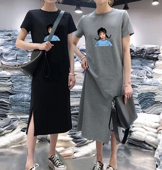 2020★夏新品★格安★半袖★ワンピース★スカート★カジュアル★ロングTシャツ★2色M-XXXL