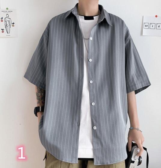 2020年新作★メンズTシャツ★ストライプ★半袖 3色
