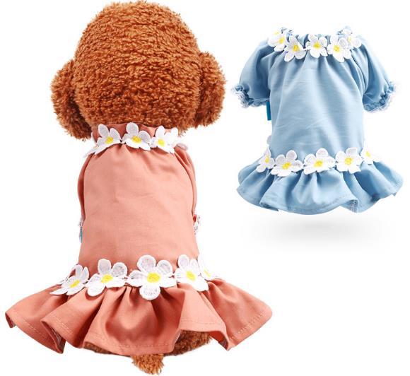2020年新作★素敵なペット服★可愛い秋冬犬服★花ワンピース愛犬大変身★XS-XL