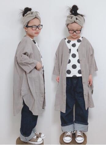 2020年キッズファッション★★子供  薄いコート 綿麻★90-140cm