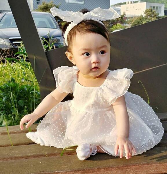 2020新品★人気アイテム★子供服★レース ワンピース ロンパース★超可愛い★ベビー ドレス★66-90