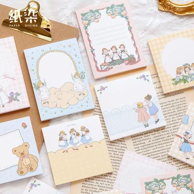 姫様文具◆付箋◆ポストイット◆伝言メモ◆メモポスト★手帳素材★少女日常苺花天使 50枚入