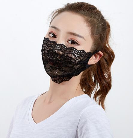 2020★夏 洗えるマスク★ 防塵 防花粉 通気性 日焼け止め 薄手 飛沫防止 レースマスク★