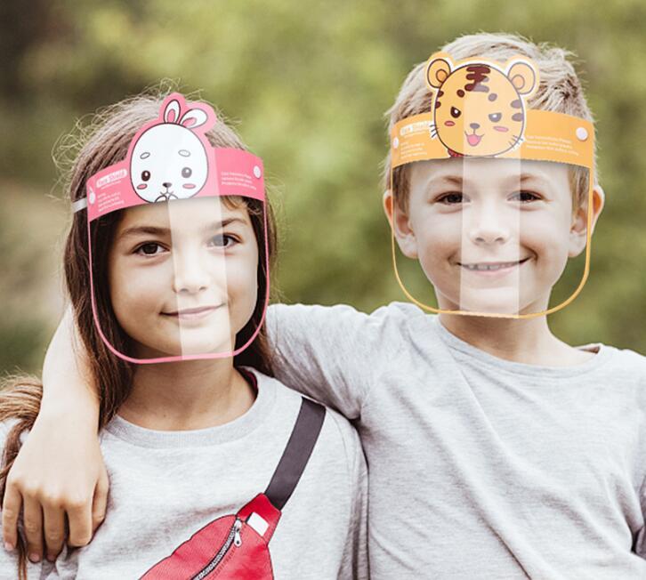 ◆フェイスシールド◆子供用 保護シールド 透明シールド◆飛沫防止/防砂 防風 高透明度 軽量◆