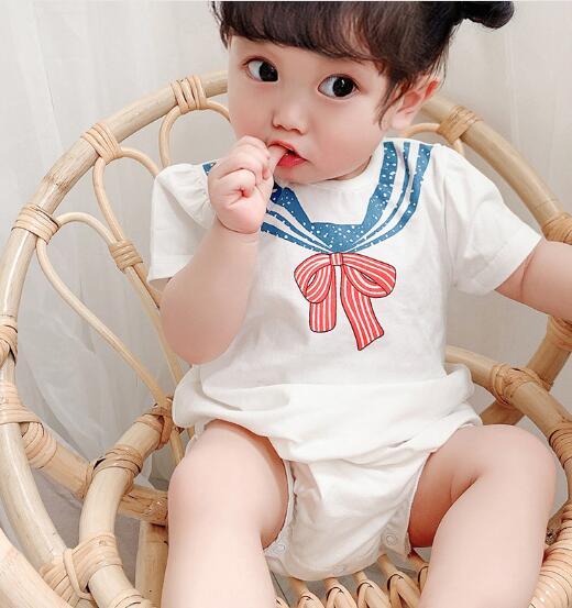 2020★夏新作★子供服★海軍風★ロンパース★連体服★ベビー服★可愛い★59-90CM