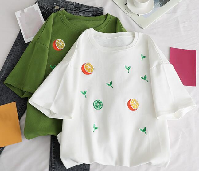 2020★夏新品★ファッション★Tシャツ★半袖★カジュアル★刺繍★ゆったりした★2色S-XL