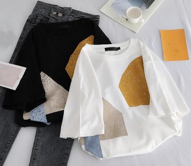 2020★夏新品★ファッション★Tシャツ★半袖★カジュアル★ゆったりした★2色S-XL