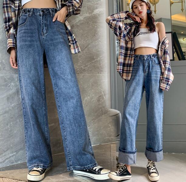 2020★夏新品★ファッション★ハイウエスト★ジーンズ★ロング★ワイドズボン★カジュアル★レトロ★S-XL