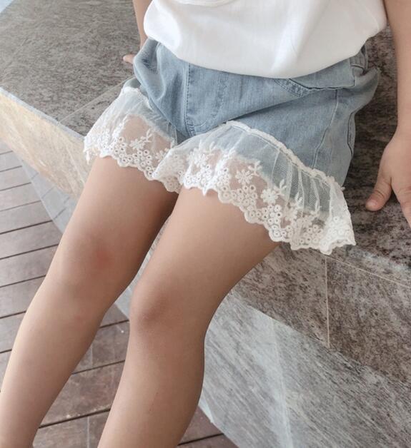 2020★夏新作★ジーンズ★子供服★キッズ★ショートズボン★レース★パンツ★ファッション★7-15