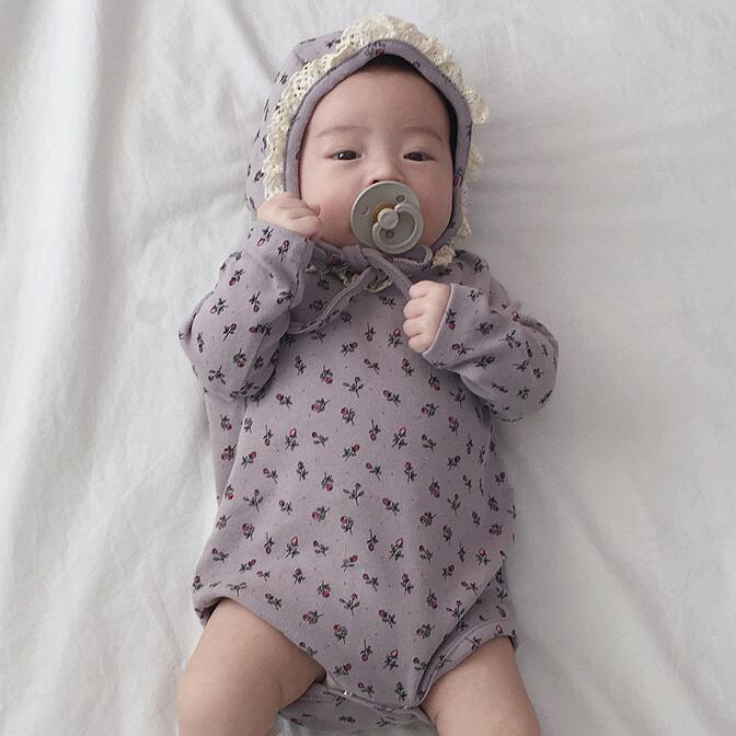2020年春秋向け★ベビー&キッズ服 ロンパース 帽子付き★66-90★2色