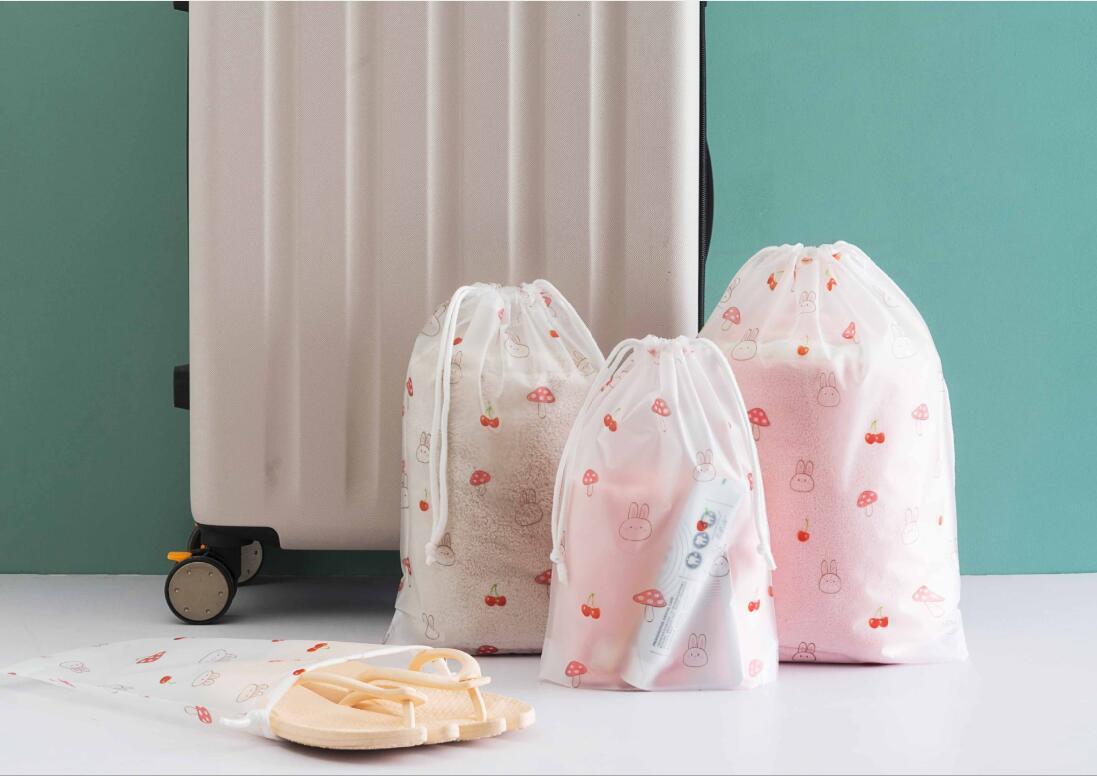 新作/収納袋/可愛いPE袋/下着&靴&服入れ/旅行の定番/丈夫なポリ袋