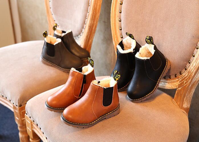 冬新品★★  ファッション 裏起毛付き単靴★  キッズ靴 シューズ★21-36