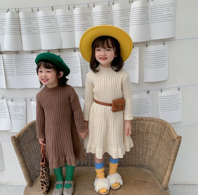 2020冬新品★★子供服  厚手 セーター ワンピース 4色★80-130cm★