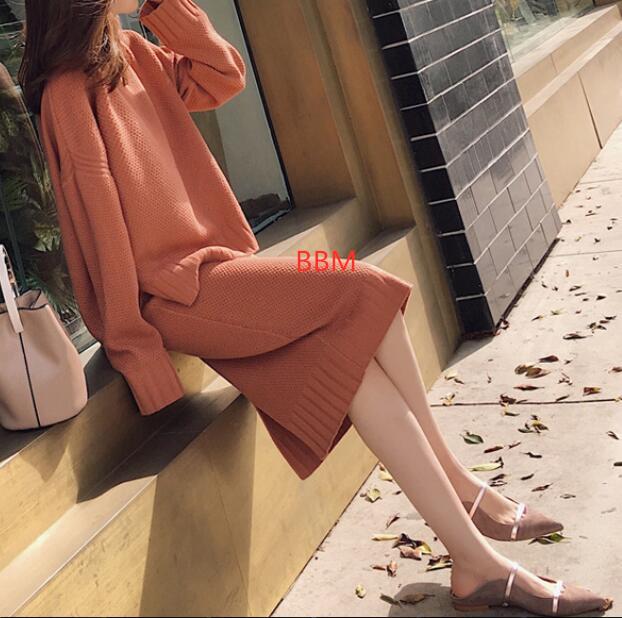 2020★秋冬新作★おしゃれ★セーター+半身スカート★2点セット★スーツ★3色