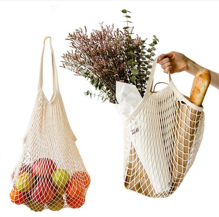 新品★エコバッグ★編みバッグ★ショッピングバッグ★大容量★果物収納袋★手提げ袋★2色