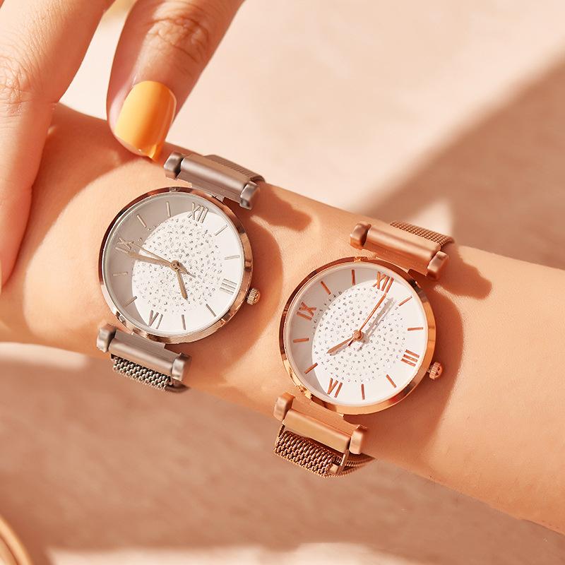 2021年新作★レディース★ファッション時計★ウォッチ★腕時計★メタルバンド★クォーツ★簡約★2色