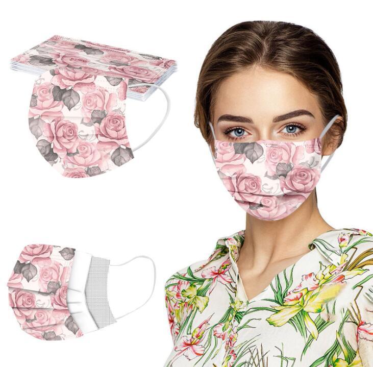 大人用マスク★不織布マスク★使い捨てマスク★三層構造★ほこり ウイルス 花粉カット★5色