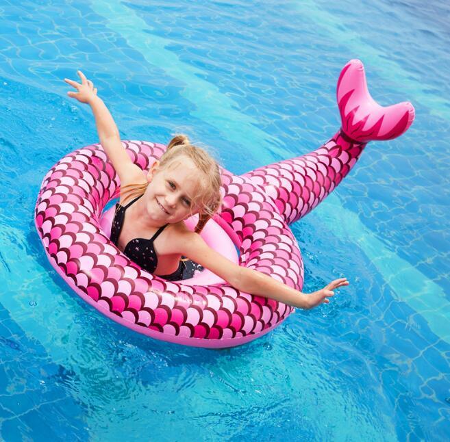 2021年新作★砂浜★水泳★コースター★キッズ★浮き輪★子供用★人魚/パイナップル★ベビー★3色