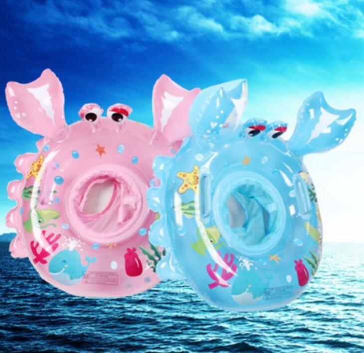 2021新作★キッズ★子供用★浮き輪★水泳★ベビー★男女兼用★可愛い★かに造型★2色