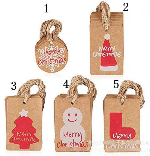 ★クリスマスお祝い カード★ラベル用紙★100枚カード入り+縄入り★