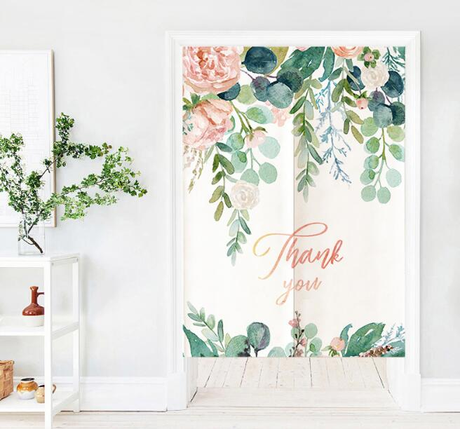 人気商品★ カーテン★ のれん 暖簾★ 観葉植物 ★シンプル★インテリア装飾★6色3サイズ選べる