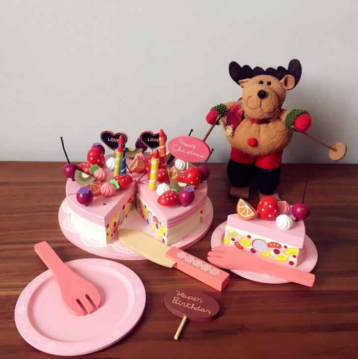子供用品★知育玩具★おもちゃ・ホビー★遊びもの 木製ケーキ★