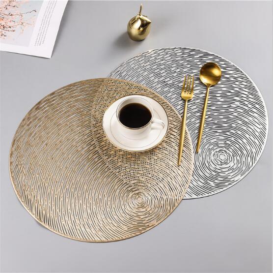 コップコースター★コーヒー コースター★テーブルマッド★滑りにくい PVC断熱素材★透かし彫り