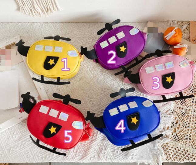 新作★可愛い ヘリコプター造型 バッグ★子供用 キッズ用★鞄 かばん★バッグ★ショルダーバッグ★5色
