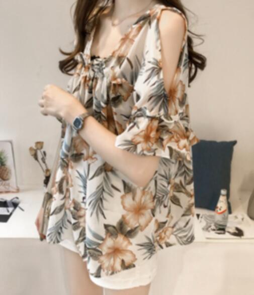 2020★夏新品★ファッション★花★Tシャツ★大きいサイズ★セクシー★半袖★3色M-4XL