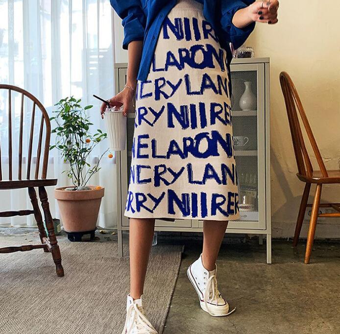 新型★レディース ファッション★お洒落 出かけ ニットスカート★