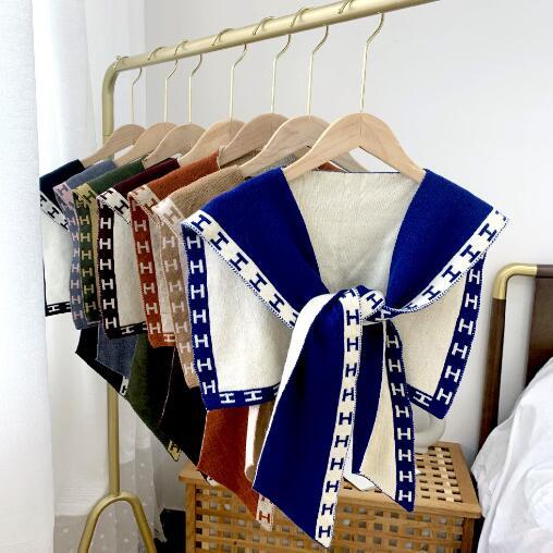 2020年新作★素敵なアクセサリー★襟飾り★毛糸偽襟★マフラー★ニット