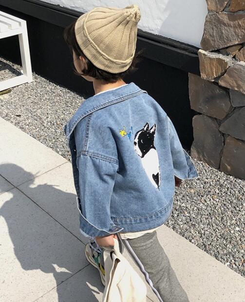 2020★秋新品★ファッション★デニムのコート★長袖★外套★子供★7-15