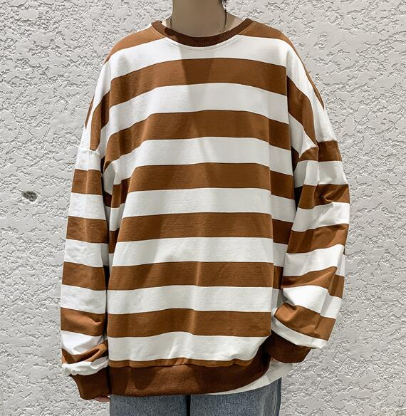 2020年新作★ブラウス★縞柄★トップス★長袖★シャツ★たっぷり★4色 M-3XL
