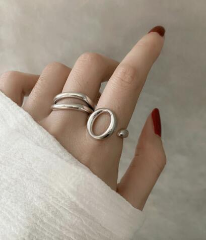 2020新作人気★リング★アクセサリー★ファッション 開口指輪★