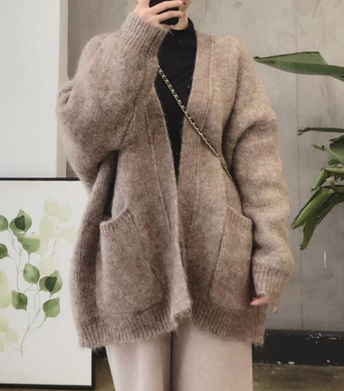 2020★秋冬新作★保温★セーター★長袖★外套★コート★カーディガン★メリヤス★2色