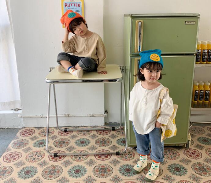2021年春夏新作★子供服★子供シャツ★キッズ★韓国子供服★無地★tシャツ★男女兼用★4色90-130
