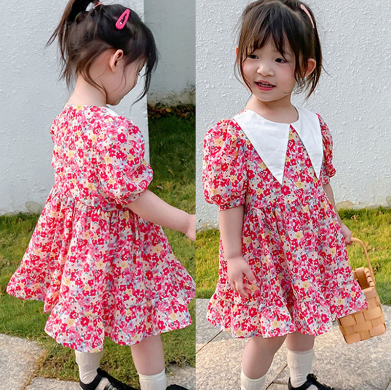 【2021新作】★♪女の子ファッション★♪花柄★♪子供服★♪可愛いワンピース★♪