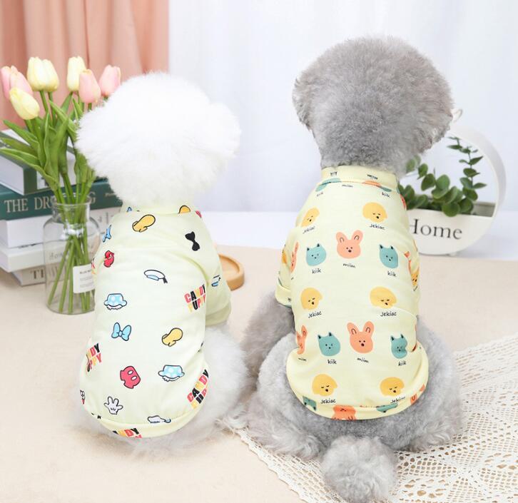 2021夏新品★シャツ★Tシャツ★ペット用品★ペット服★犬服★小型犬★可愛い★2色★S-2XL
