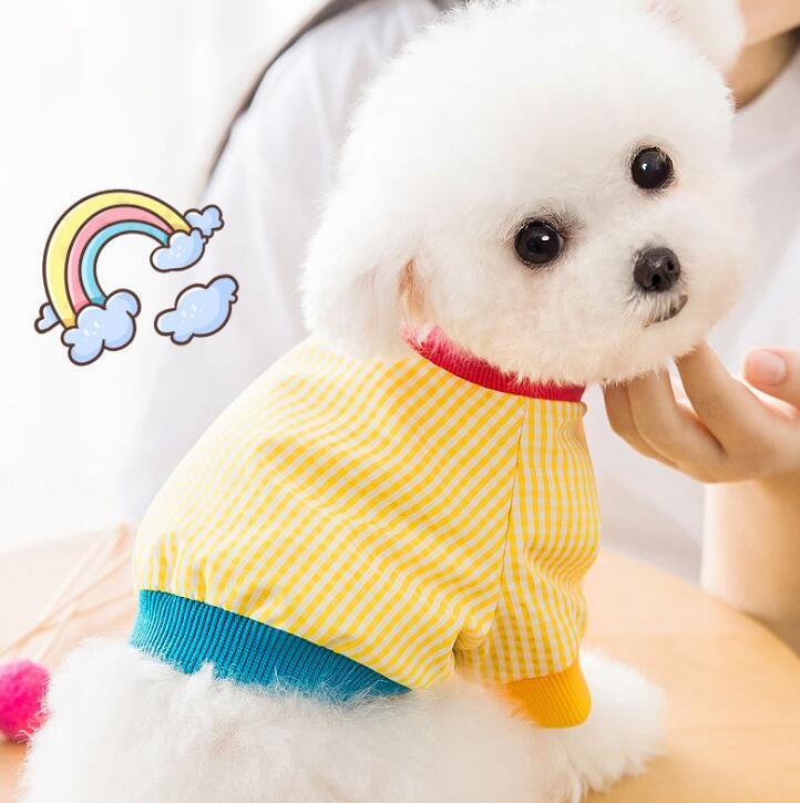 2021新作★シャツ★ペット用品★ペット服★猫犬通用★小型犬★チェック柄★3色★XS-2XL