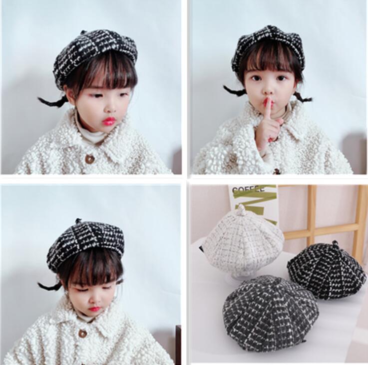 新作/韓国風/子供用帽子/キッズ帽子/ベレー帽/カボチャ/帽子/可愛い/3色