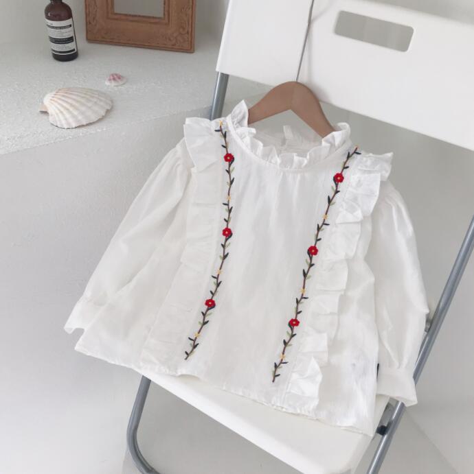 2021秋新作★大人気アパレル★女の子子供服★キッズ服★可愛い長袖Tシャツ★ブラウス