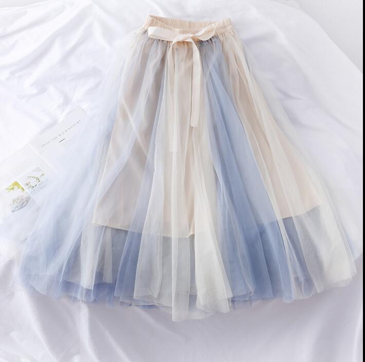 新作  爆買いセール  ハイウエスト スカート チュールスカート 素敵なデザイン