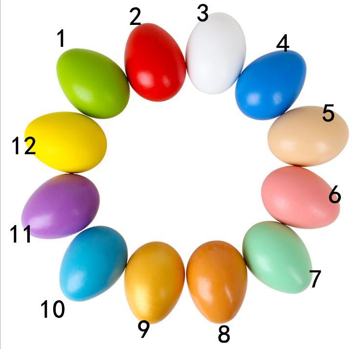 子供用品★知育玩具★おもちゃ・ホビー★イースター 遊びもの 木製タマゴ★12色